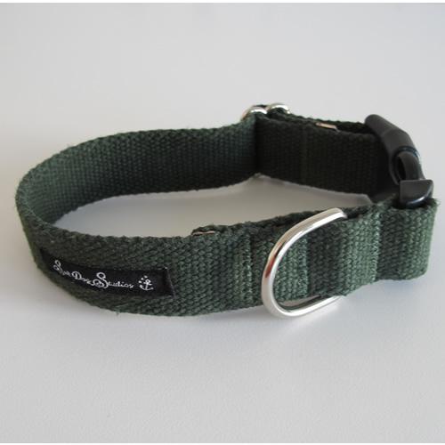 Olive Hemp Dog Collar