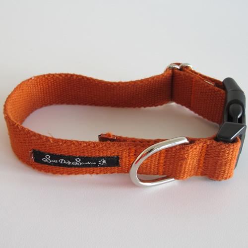 Orange Hemp Dog Collar