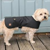 Black Waterproof Handmade Dog Coat