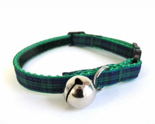 Green Tartan Cat Collar