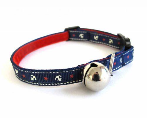 little sailors blue Cat Collar