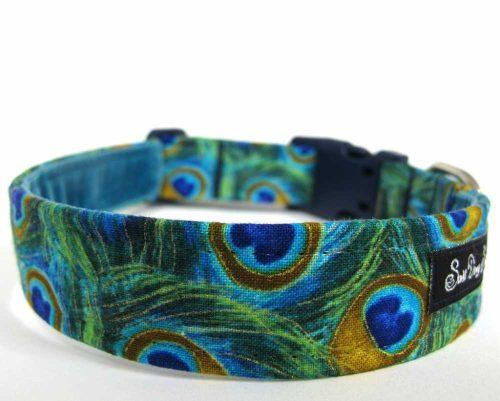Peacock Handmade Dog Collar