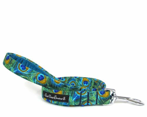 Peacock Handmade Dog Lead