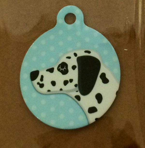 I Am Chipped Dalmatian Handmade Dog Tag.