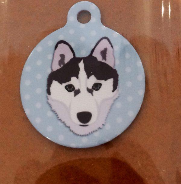 I am chipped husky dog tag