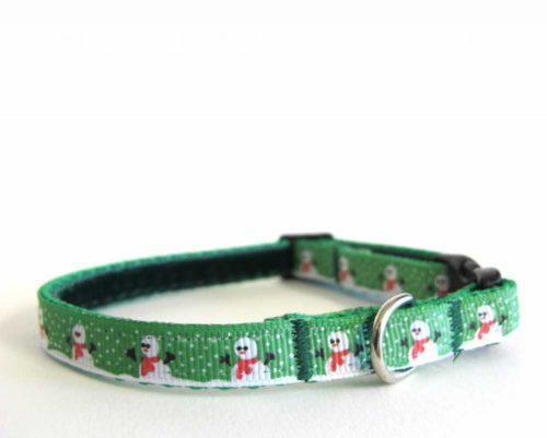 Snowman Xmas Teeny Weeny Dog Collar